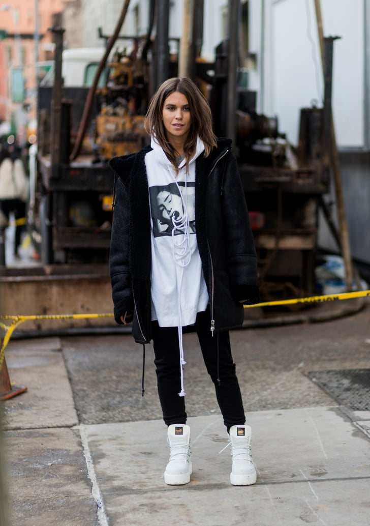 Wear a Pair With an Oversize Hoodie | How to Wear High Top Sneakers 2019 | POPSUGAR Fashion Photo 26