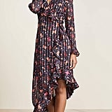 C/Meo Collective Significant Long Sleeve Asymmetrical Floral Wrap Dress