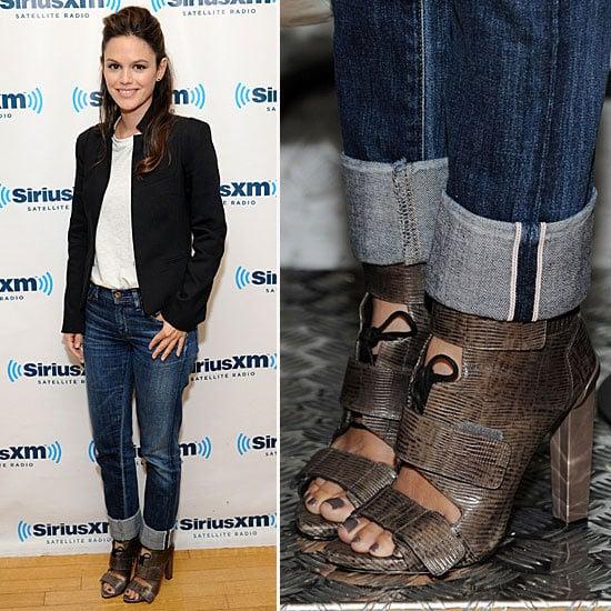 Pictures of Rachel Bilson in Alexander Wang Heels at SiriusXM Studio in New York City: Steal Her Designer Heel Style!