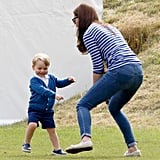 But Prince George Was Too Busy Running Wild to Notice
