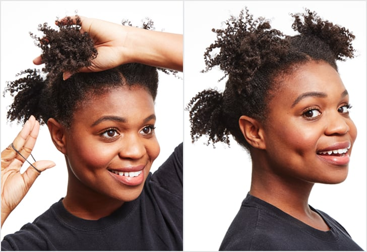 Coily Hair Tip #2: Pineapple In Four Sections