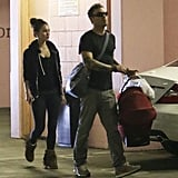 Megan Fox and Brian Austin Green headed to their car with Noah Green.