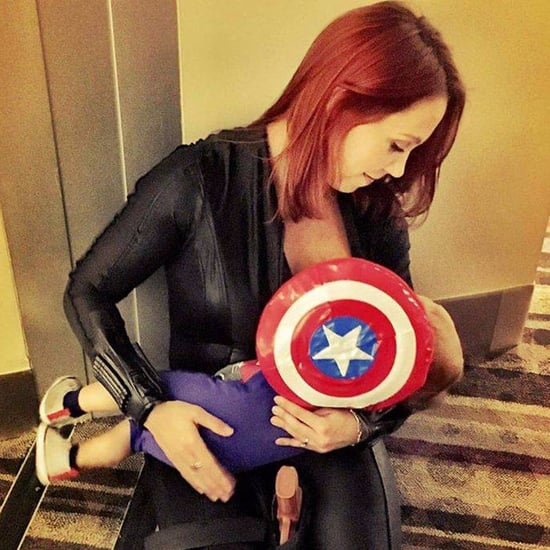 Breastfeeding Dressed as Superheroes