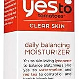 After your acid exfoliants and active ingredients, you should always moisturize to seal it in. I love this Yes to Tomatoes Daily Balancing Moisturizer ($8) because it's really light and hydrating but doesn't make my skin feel greasy. I use this at night also if I'm not feeling like I need extra moisture before bed.
