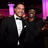 Trevor Noah and Billy Porter at Clive Davis's 2020 Pre-Grammy Gala in LA