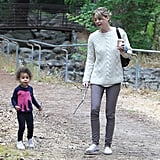 Stella Ivery hiked in LA Thursday with mom Ellen Pompeo.