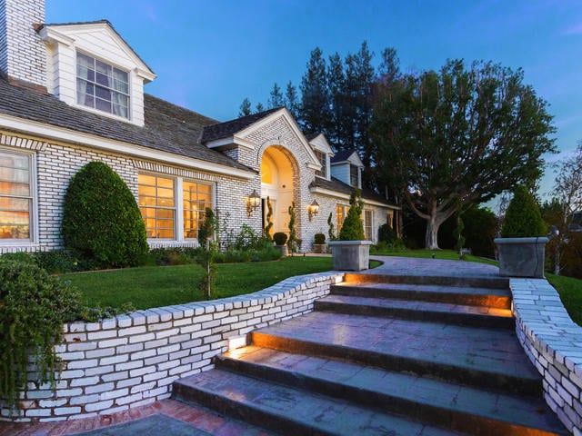 The massive residence is located in one of the most desirable neighborhoods within an elite area of Los Angeles.