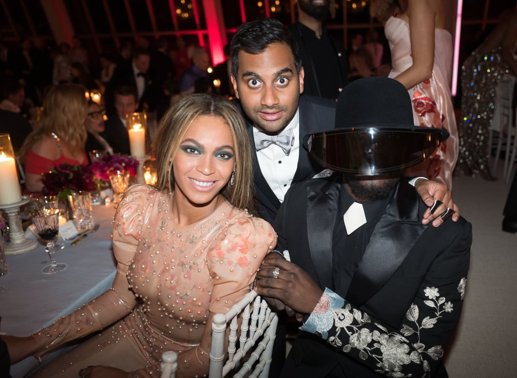 Pictured: Beyonce Knowles, Will I Am, and Aziz Ansari