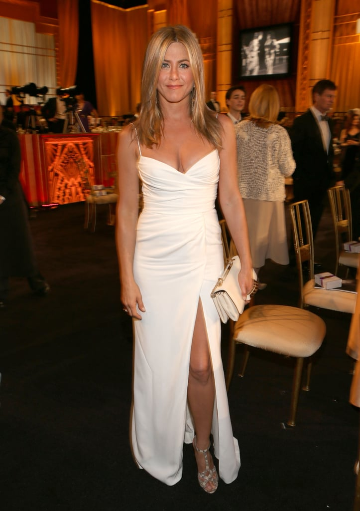 Jennifer Aniston wore Burberry in LA.