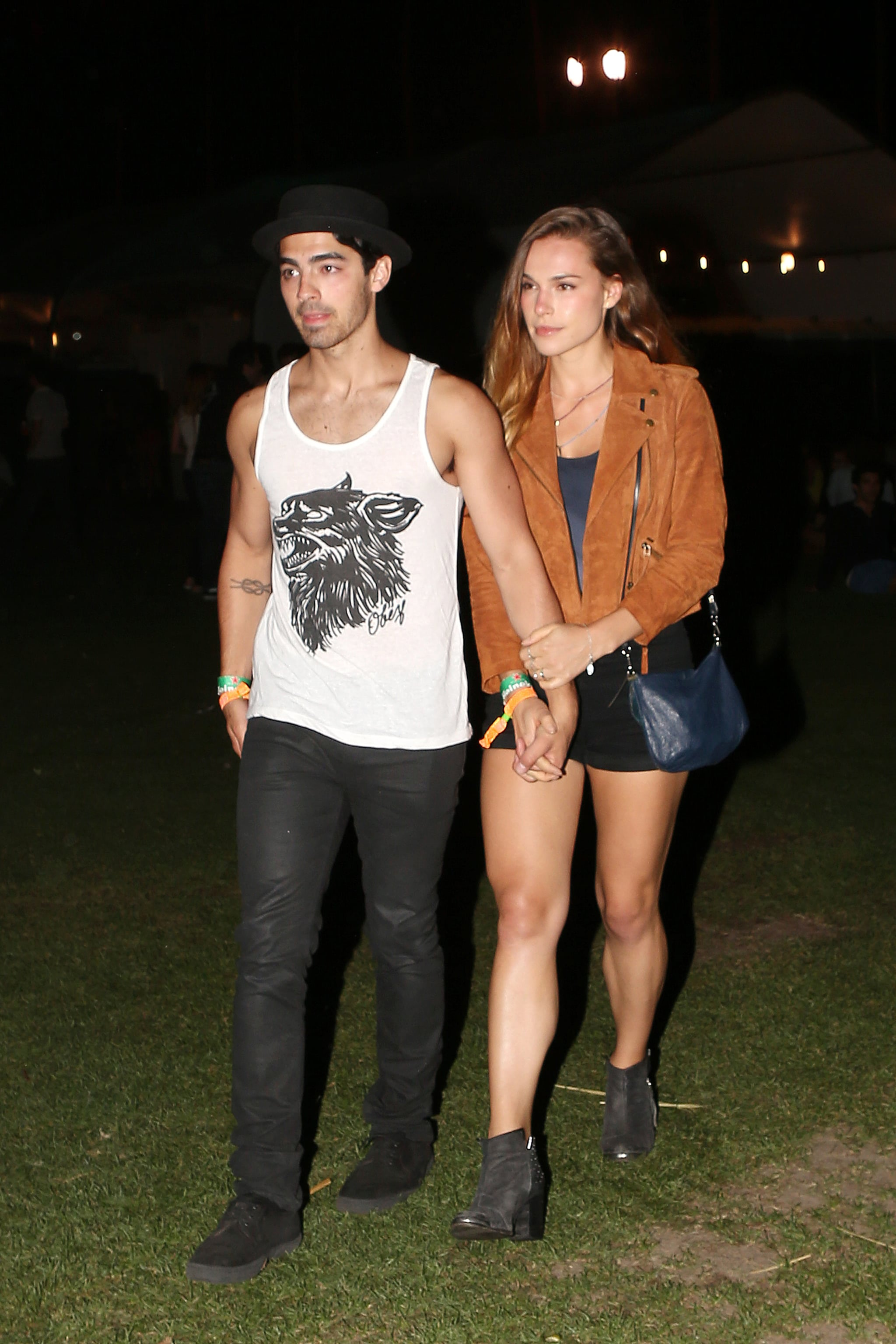 Blanda Eggenschwiler kept a tight grip on Joe Jonas in 2013.