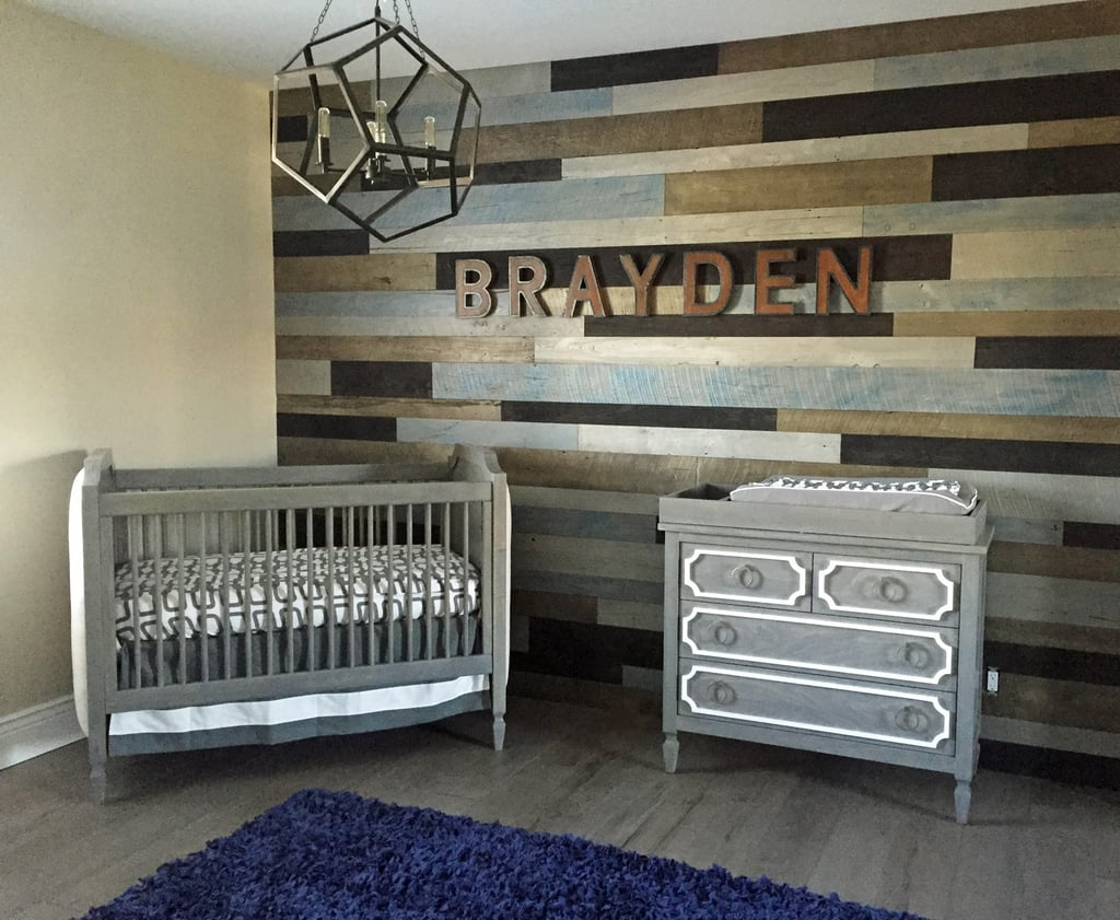 The El Moussas Spelled Out Braydens Name Using RH Baby Child Vintage Industrial Letters