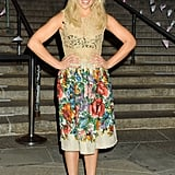 For a Good Time, Call . . .  actress Ari Graynor took on a floral and sheer lace look all at once with this Spring outfit.