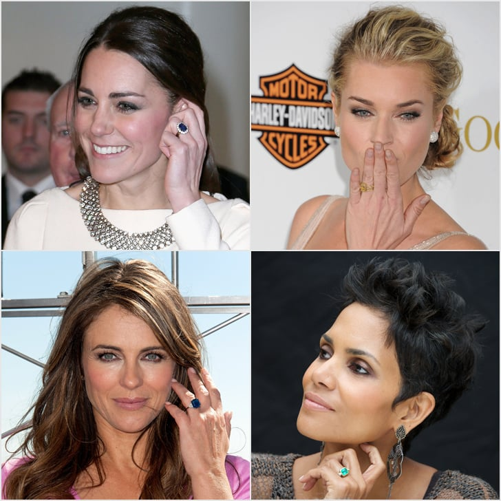 22 stunning nontraditional celebrity engagement rings - Nontraditional Wedding Rings