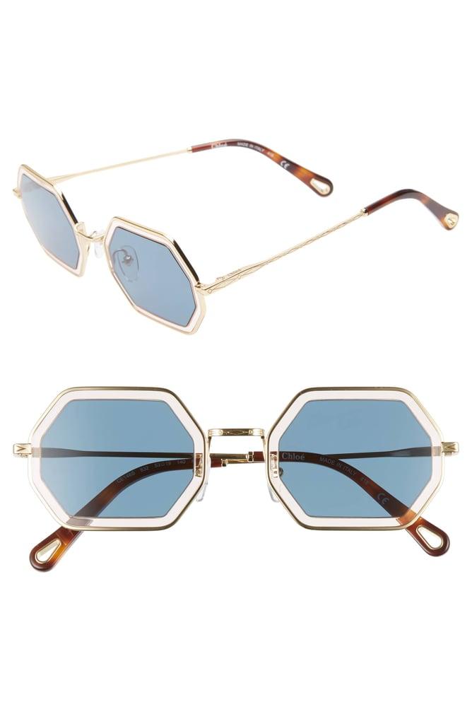 Chloé Tally 53mm Octagon Sunglasses