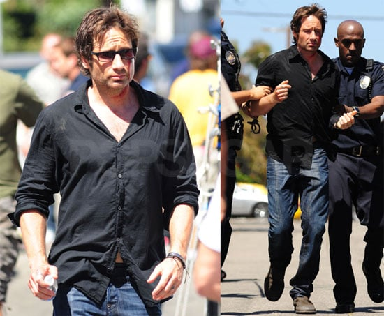 Photos of David Duchovny on Set