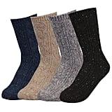 Tetiba Women's Winter Premium Soft Thick Knitting Wool Warm Crew Socks