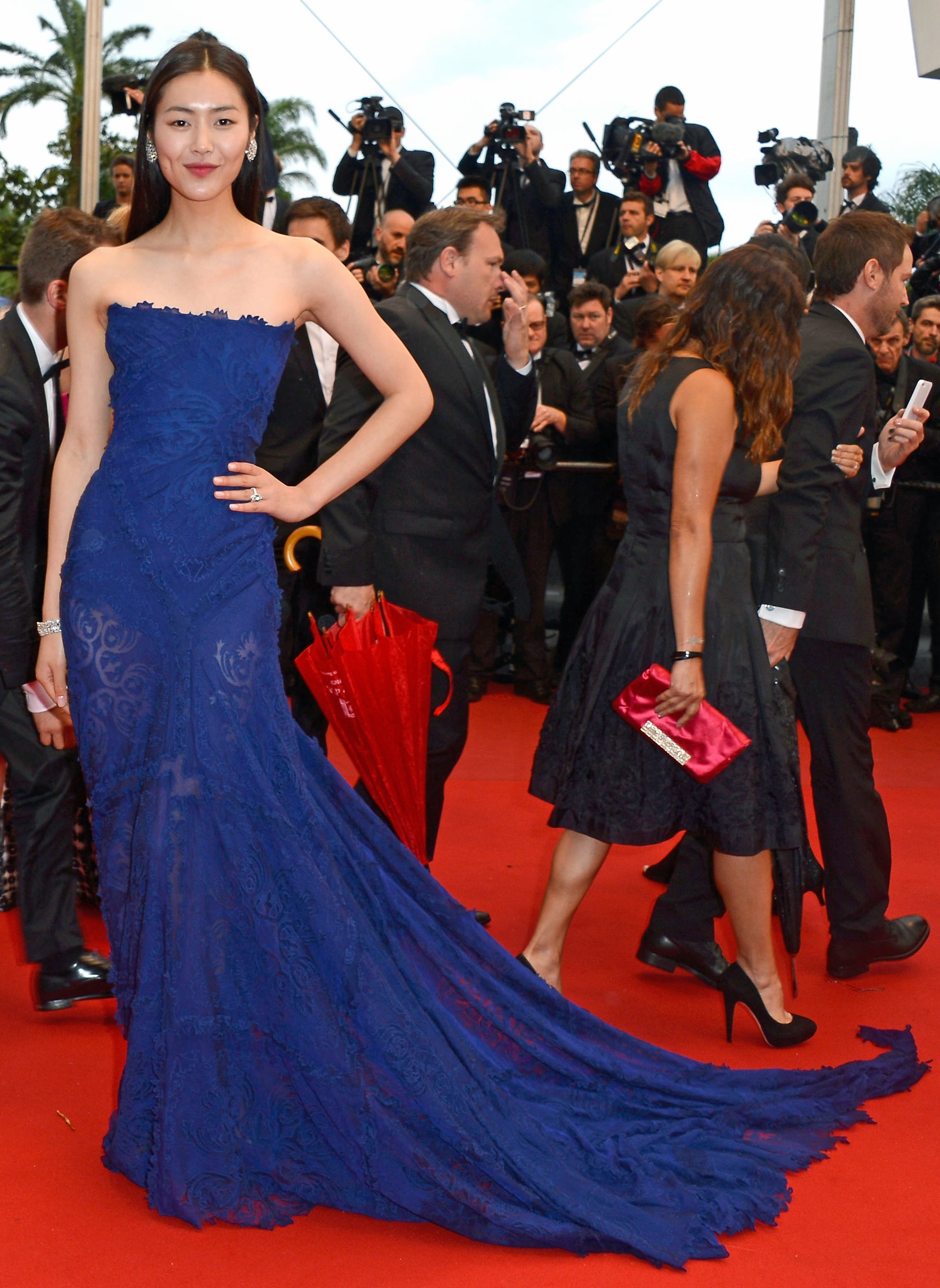 Liu Wen wore Roberto Cavalli at the premiere of All Is Lost.