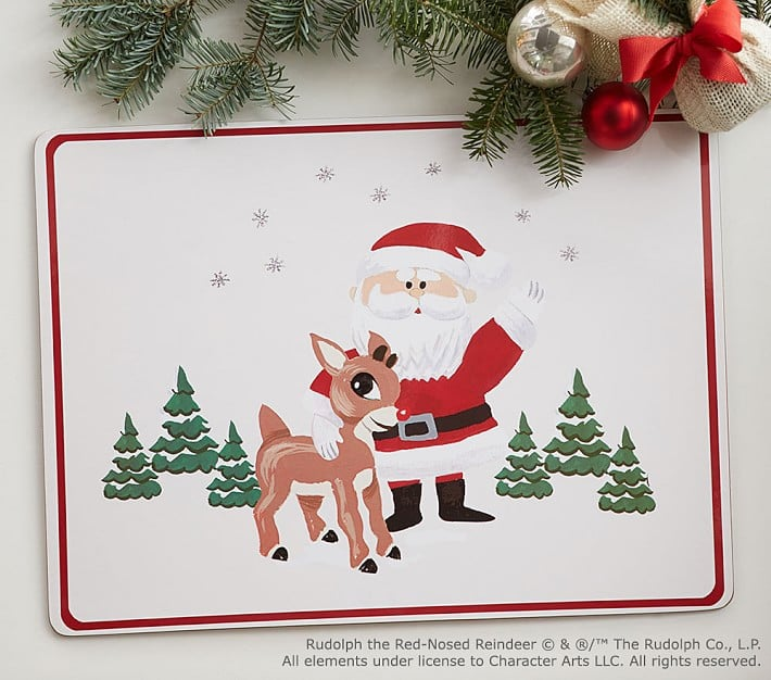 rudolph the red nosed reindeer placemat