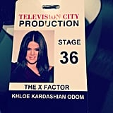 Khloé Kardashian showed off her X Factor access pass. Source: Instagram user khloekardashian