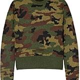 Miu Miu Camouflage Intarsia Wool Sweater