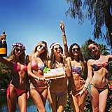 Alessandra Ambrosio Celebrated Her Birthday Poolside