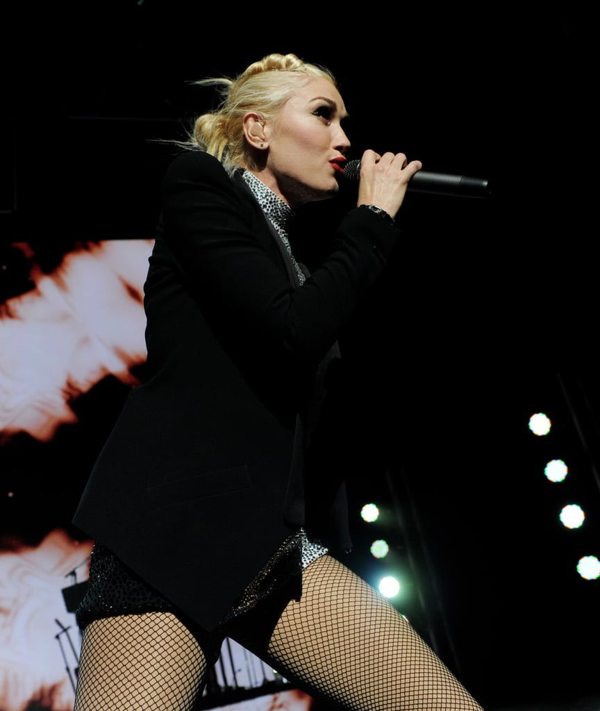 Gwen Stefani rocked out on stage.