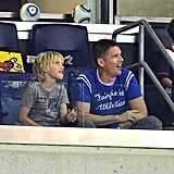 Ethan Hawke watches the MLS All Star game.