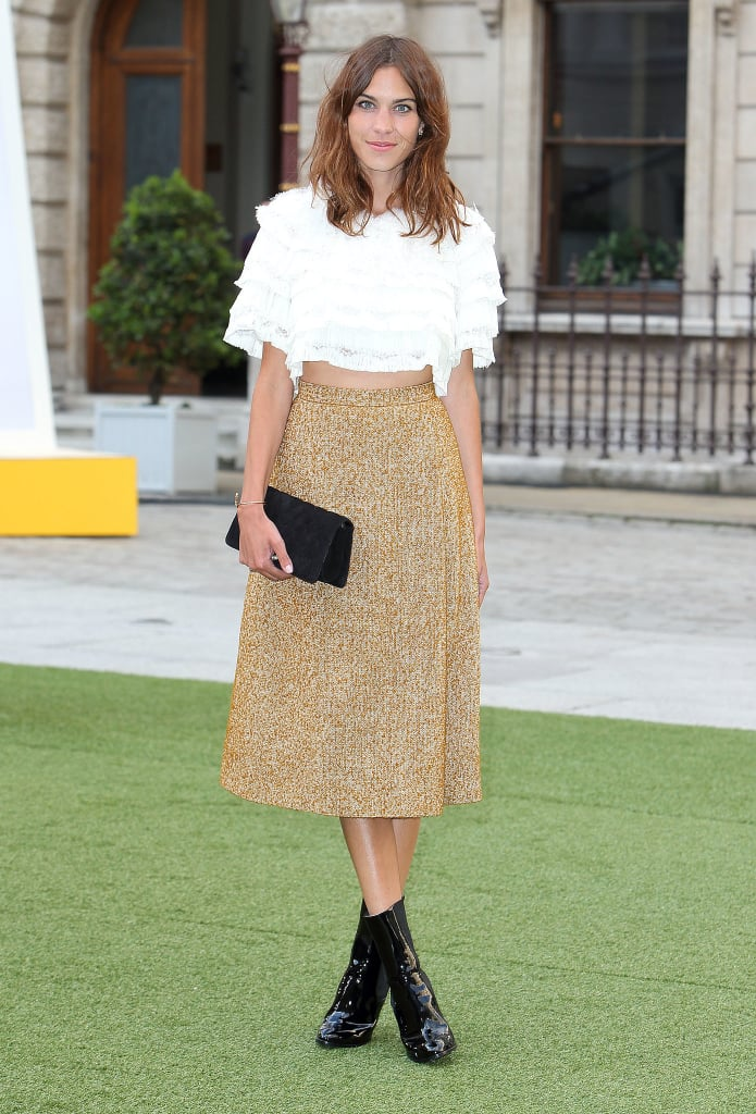 Alexa Chung at the Royal Academy Summer Exhibition Preview Party