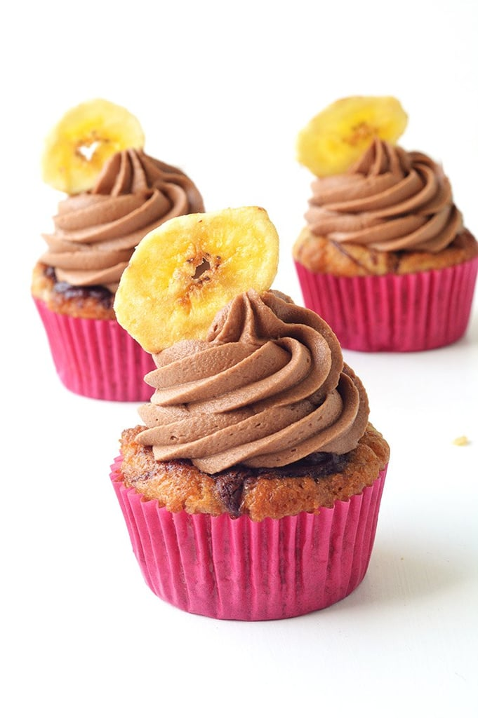 Nutella Banana Cupcakes With Chocolate Frosting