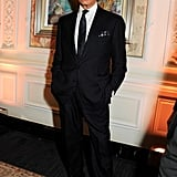 Valentino Garavani posed at the British Fashion Awards reception.