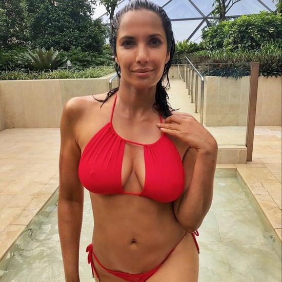 Padma Lakshmi's Red Cutout Bikini
