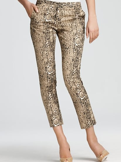 With this Vince Camuto snake-print pant ($99), you can go two ways: bold with a bright top or subtle with something neutral.