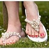Beaded Flip-Flops