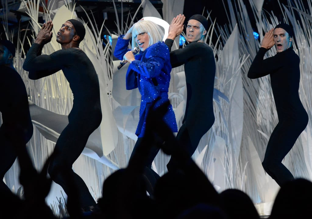 "Lady Gaga performed her latest single ""Applause."""