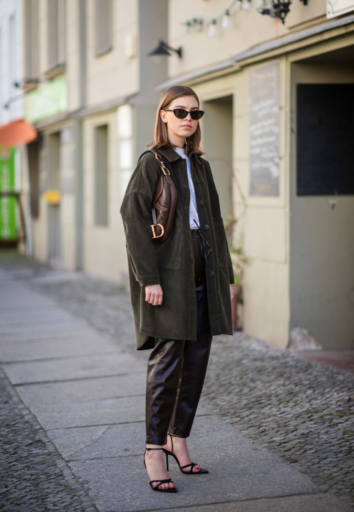 Style a black pair with leather pants and a white tee.