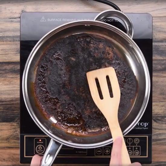 كيفية تنظيف المقلاة من فضلات الطعام المحترقة