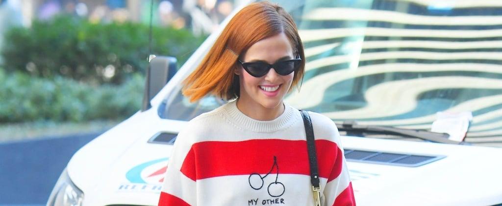 Zoey Deutch's My Other Half Miu Miu Valentine's Day Sweater