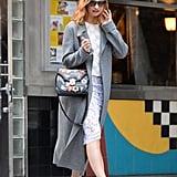 Lily James Wearing an Alexander McQueen Bag