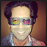 Brian Atwood showed off his 3D glasses from the NYC screening of Great Gatsby. Source: Instagram user brian_atwood