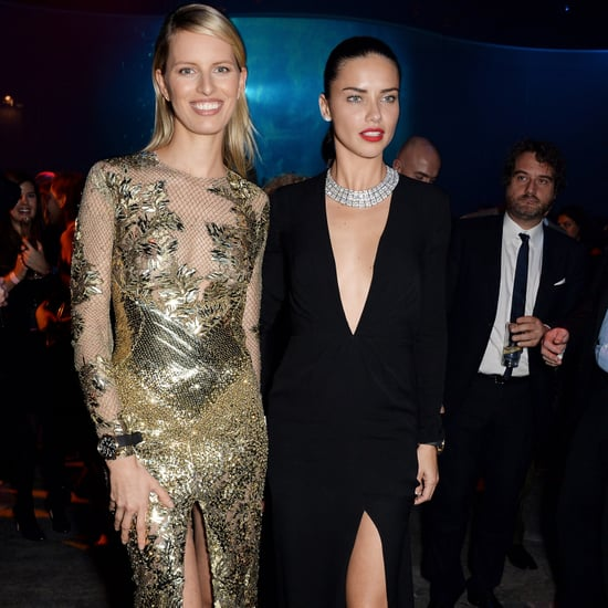 Karolina Kurkova and Adriana Lima at IWC Gala 2014