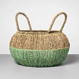 Decorative Seagrass Basket in Mint
