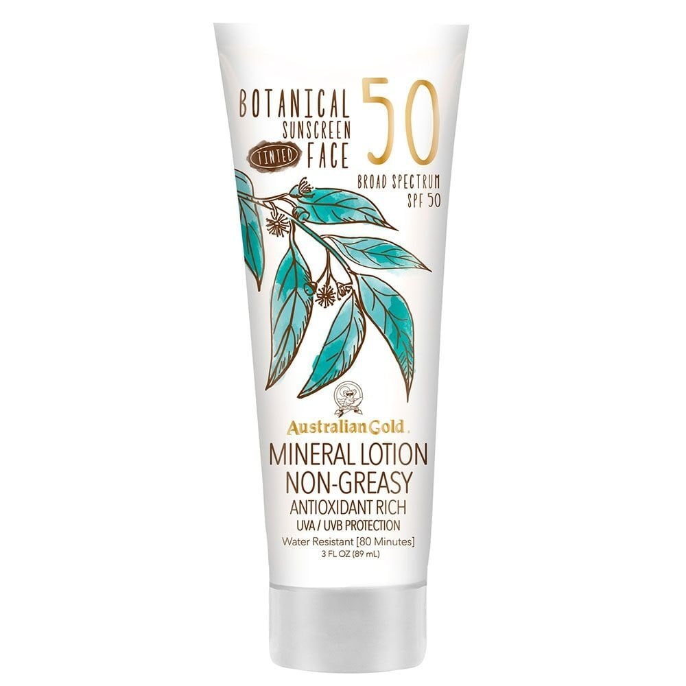 Best Tinted Sunscreen: Australian Gold Botanical Sunscreen Tinted Face Mineral Lotion SPF 50