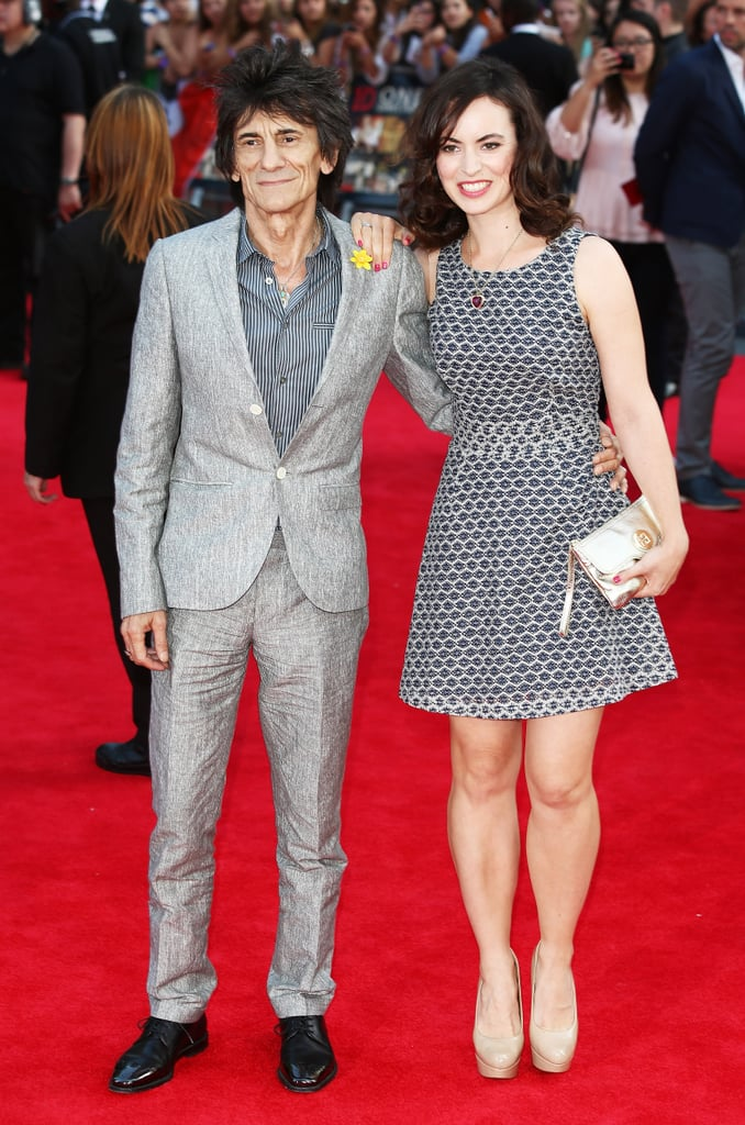 rolling stones star ronnie wood and his wife sally