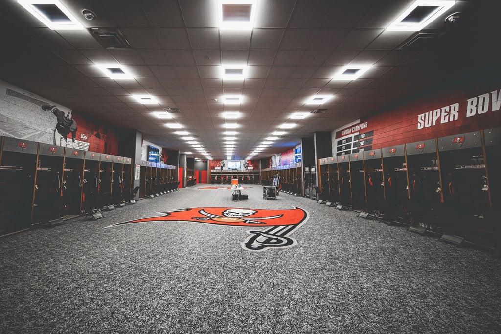 Tampa Bay Buccaneers Locker Room Zoom Background