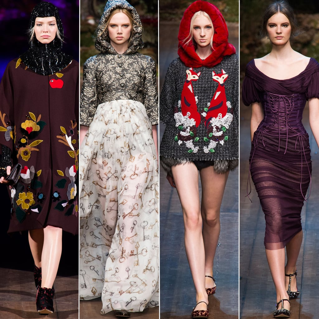 2014 Autumn Winter Dolce and Gabbana Milan Fashion Week Show