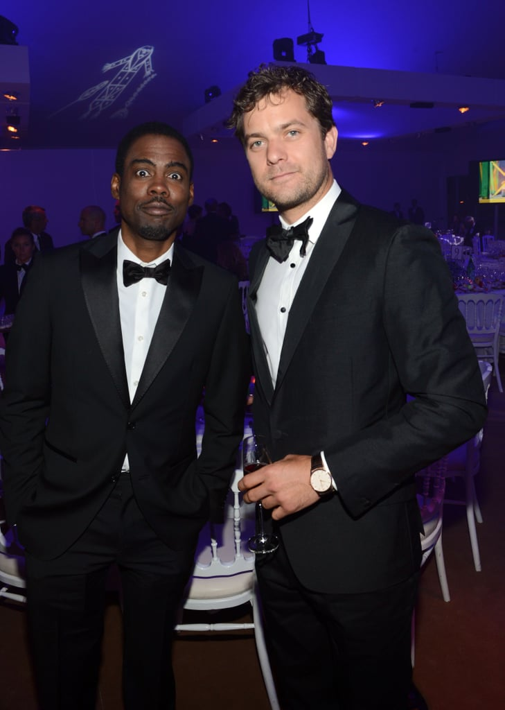 Chris Rock and Joshua Jackson posed together at the Haiti: Carnival in Cannes event.