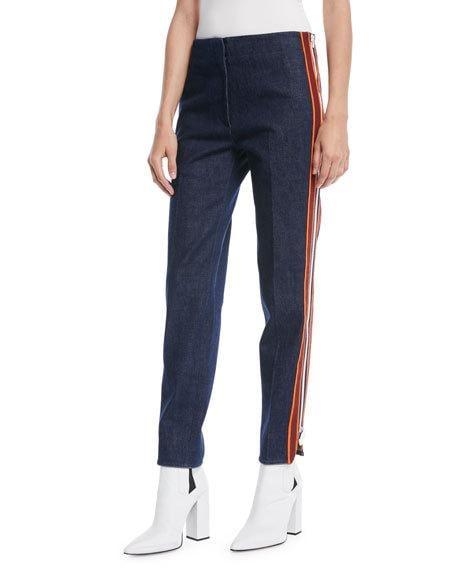 Calvin Klein Side Stripe Zipper Skinny Jeans