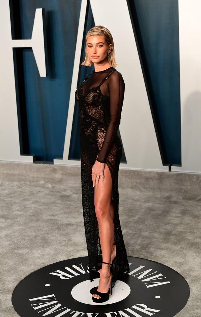 Hailey Bieber at the Vanity Fair Oscars Afterparty 2020
