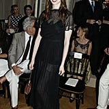 Anne wore a chic black dress.