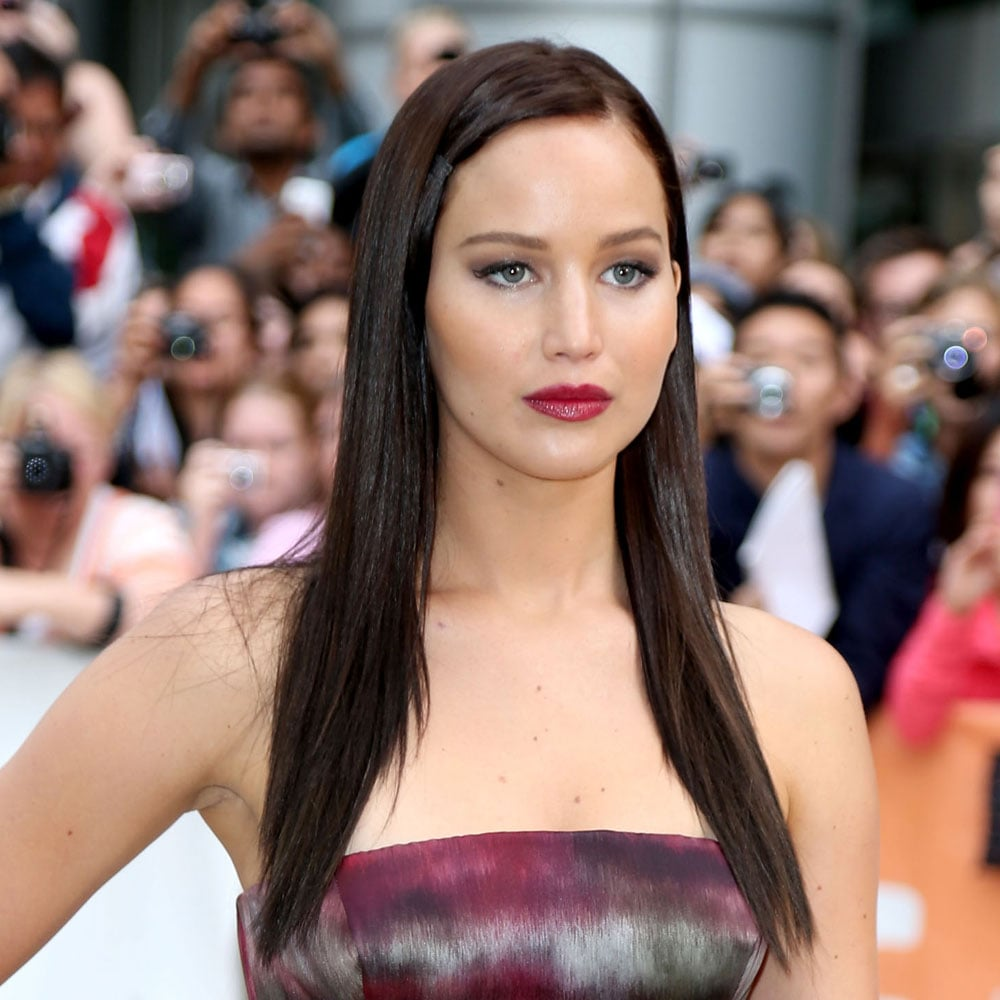 Looking very polished, Jennifer's dark lip choice was perfect for her newly dark hair at The Silver Linings Playbook premiere.